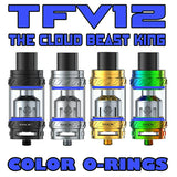 "The Cloud Beast KING - TFV12 ""BLUE"" Color Orings Seals Gaskets ( 3x Pair )"