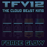 "TFV12 - THE CLOUD BEAST KING - FORCE GLOW ""BLUE"" Color Orings Seals Gaskets ( 3x Pair ) GLOW IN THE DARK"