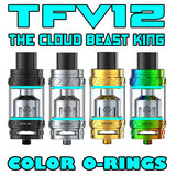 "The Cloud Beast KING - TFV12 ""CYAN"" Color Orings Seals Gaskets ( 3x Pair )"