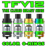 "The Cloud Beast KING - TFV12 ""GREEN"" Color Orings Seals Gaskets ( 3x Pair )"