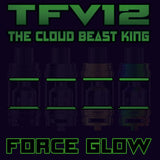 "TFV12 - THE CLOUD BEAST KING - FORCE GLOW ""GREEN"" Color Orings Seals Gaskets ( 3x Pair ) GLOW IN THE DARK"