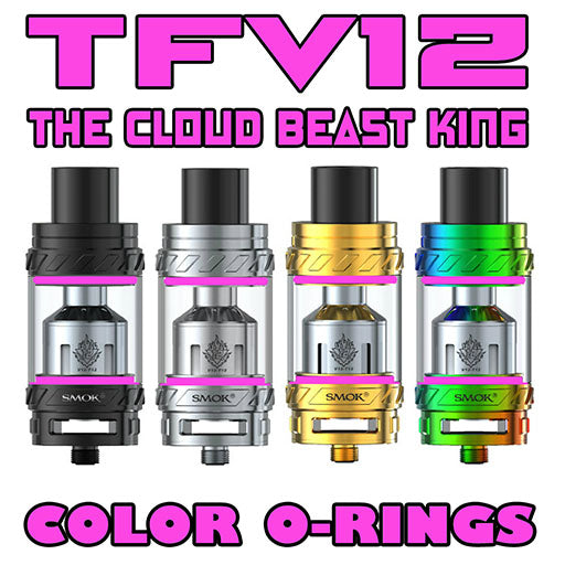"The Cloud Beast KING - TFV12 ""PINK"" Color Orings Seals Gaskets ( 3x Pair )"