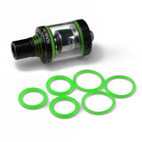 "Spirals Tank - SMOK - ""GREEN"" ORING Seals  Contains: ( 3x Pair ) Silicone Rubber Replacement O'Rings by Inked ATTY"