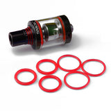"Spirals Tank - SMOK - ""RED"" ORING Seals  Contains: ( 3x Pair ) Silicone Rubber Replacement O'Rings by Inked ATTY"