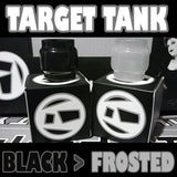 "TARGET TANK - Extended 5ML - ORIGINAL - ""Black to Frosted"" - Color Change Glass Inked ATTY Pyrex"