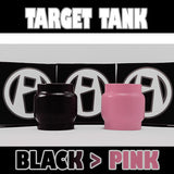 TARGET TANK - Extended 5ML - ORIGINAL - Black to PINK - Color Change Glass Inked ATTY Pyrex