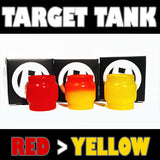TARGET TANK - Extended 5ML - ORIGINAL - Red to Yellow - Color Change Glass Inked ATTY Pyrex