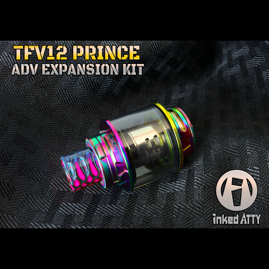 "ADV Expansion Kit - PRINCE - TFV12 ""ALL DAY VAPE KIT"" Replacement Glass Tank created by Inked ATTY"