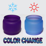 "TFV12 - Prince ""PURPLE to BLUE"" Resin Coated Color Change Pyrex Extended Bubble Glass - 8ML"