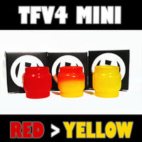 TFV4 MINI - Extended 5ML- Red to Yellow - Color Change Glass Inked ATTY Pyrex