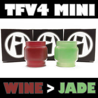 TFV4 MINI 5ML EXTENDED TFV4 MINI 5ML PYREX GLASS INKED ATTY FAT BOY FAT BABY FISH BOWL