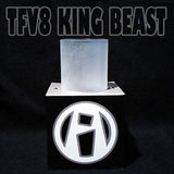 King Beast TFV8 - Frost Etch - Pyrex Glass Replacement Frosted Etched Replacement Glass by Inked ATTY