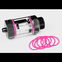 Color ORINGS SEALS GASKETS for The Tanker by Rig Mod VapeAmp PINK