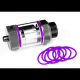 PURPLE Color ORINGS SEALS GASKETS for The Tanker by Rig Mod VapeAmp