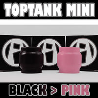TopTank Mini V1 - 5ML Extended - Black to PINK Color Change Glass Inked ATTY