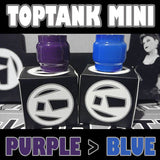 TopTank Mini V1 - 5ML Extended - Purple to Blue Color Change Glass Inked ATTY Pyrex