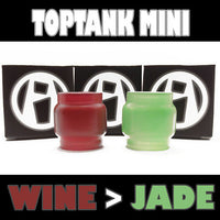 TopTank Mini V1 - 5ML Extended - Wine to Jade Color Change Glass Inked ATTY