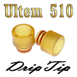 "Ultem PEI Drip Tip - 510 Size - 12.3mm - ""8.5mm Socket"" by Inked ATTY"