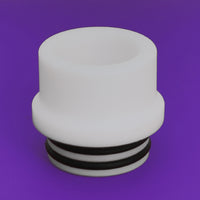 WHITE - Delrin Drip Tip - Mouth Piece - Heat Resistant - ( 810 Size  )