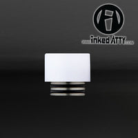 ( 810 Size  ) WHITE - TFV12 King Beast - TFV8 Cloud Beast - TFV8 Big Baby Beast - Wide Bore - Delrin Drip Tip - Heat Resistant