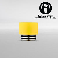 YELLOW - Black - TFV12 King Beast - TFV8 Cloud Beast - TFV8 Big Baby Beast - Wide Bore - Delrin Drip Tip - Heat Resistant