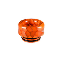 Orange Viper Resin Drip Tip - Mouth Piece - ( 810 Size  )