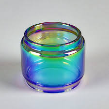 "Crown 4 ""IV"" - RAINBOW - Color Tinted - Extended Bubble Glass Replacement Pyrex - 6ML"