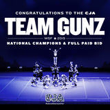 CJA Team Gunz: WSF Champion + Full Paid Bid, Square Poster