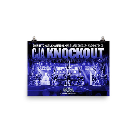 CJA KNOCKOUT 2017 BATC NATIONAL CHAMPIONSHIP POSTER