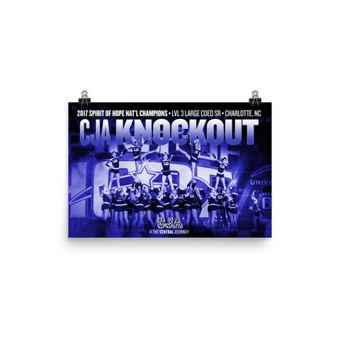 CJA Knockout 2017 Spirit of Hope National Championship Poster