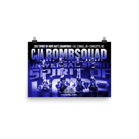 CJA Bombsquad Spirit of Hope 2017 National Championship Poster