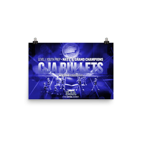 CJA Bullets 2016 WSF National and Grand Championship Poster