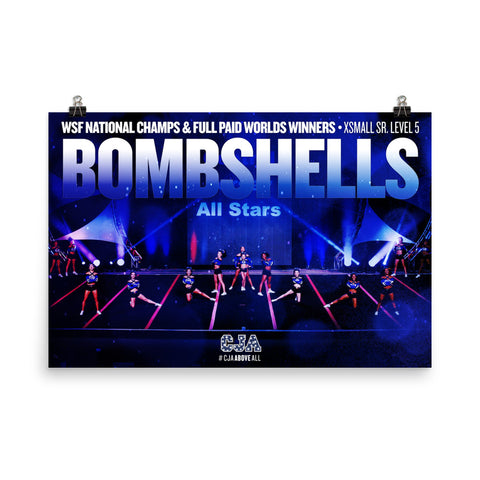 2017 WSF National Champion and Full Paid Worlds Bid Winners CJA Bombshells