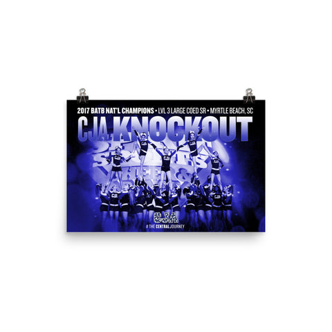 CJA Knockout 2017 BATB NATIONAL CHAMPIONSHIP POSTER