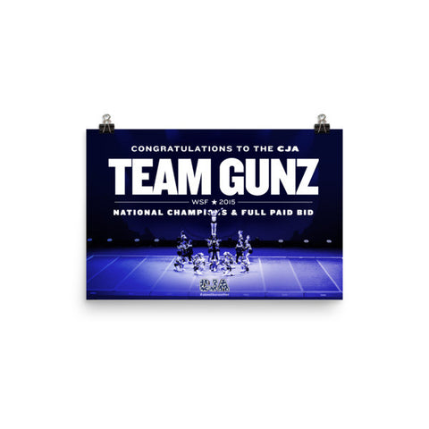 CJA Team Gunz: WSF Champion + Full Paid Bid, Landscape Poster