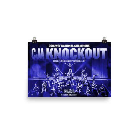 CJA Knockout 2016 WSF National Championship Poster