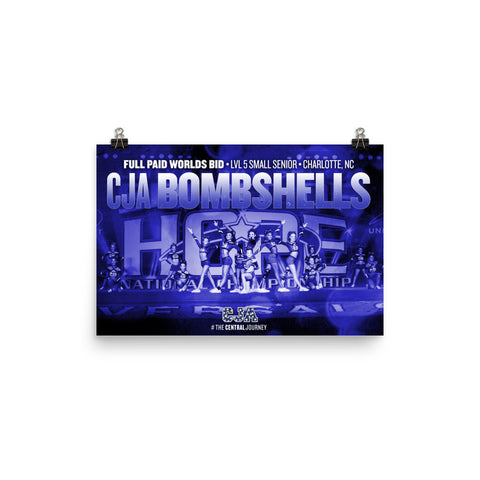 CJA Bombshells 2017 Spirit of Hope Full Paid Worlds Bid Poster