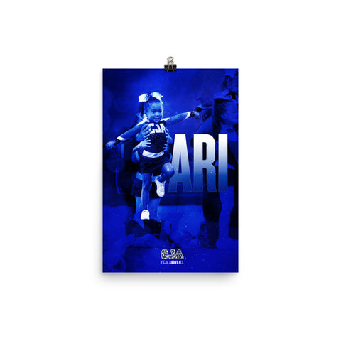 PERSONALIZED POSTER - ARI, Blue