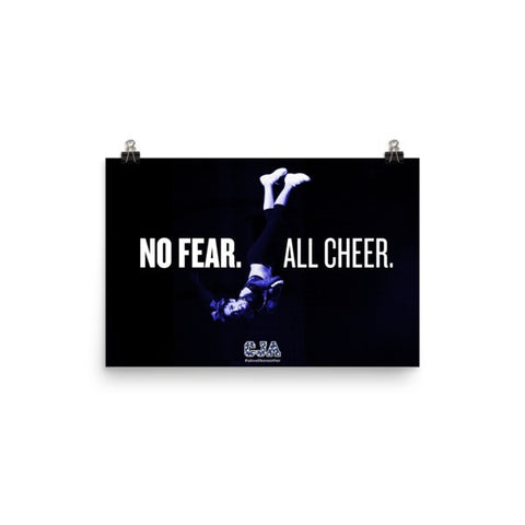 """No Fear. All Cheer."" Landscape Poster"