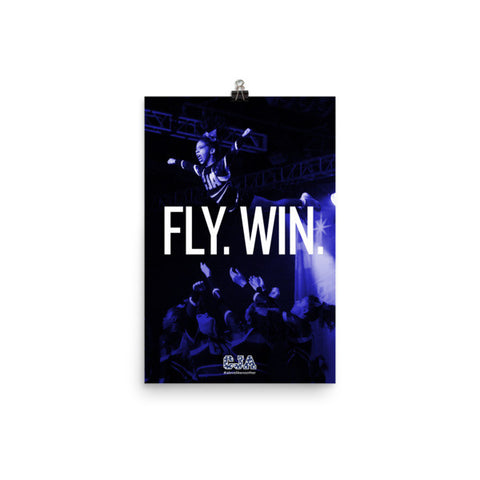 """Fly. Win."" Portrait Poster"