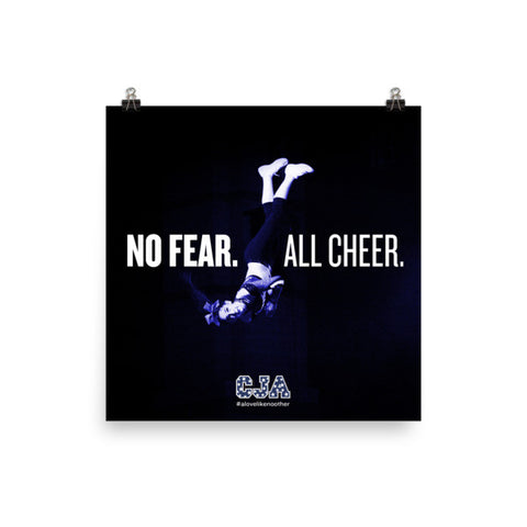 """No Fear. All Cheer."" Square Poster"