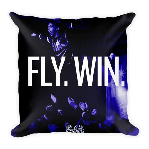"""Fly Win"" 18"" x 18"" Pillow"