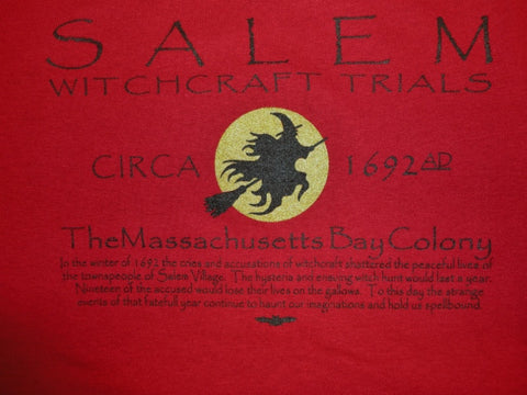 Tee Witchcraft Trials Circa 1692 (unisex)