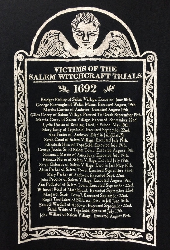 Teeshirt Witchcraft Trial Victims (Adult)