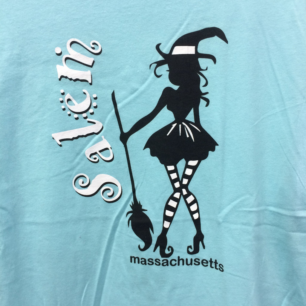 Teeshirt Witch in Striped Stockings (Junior's)