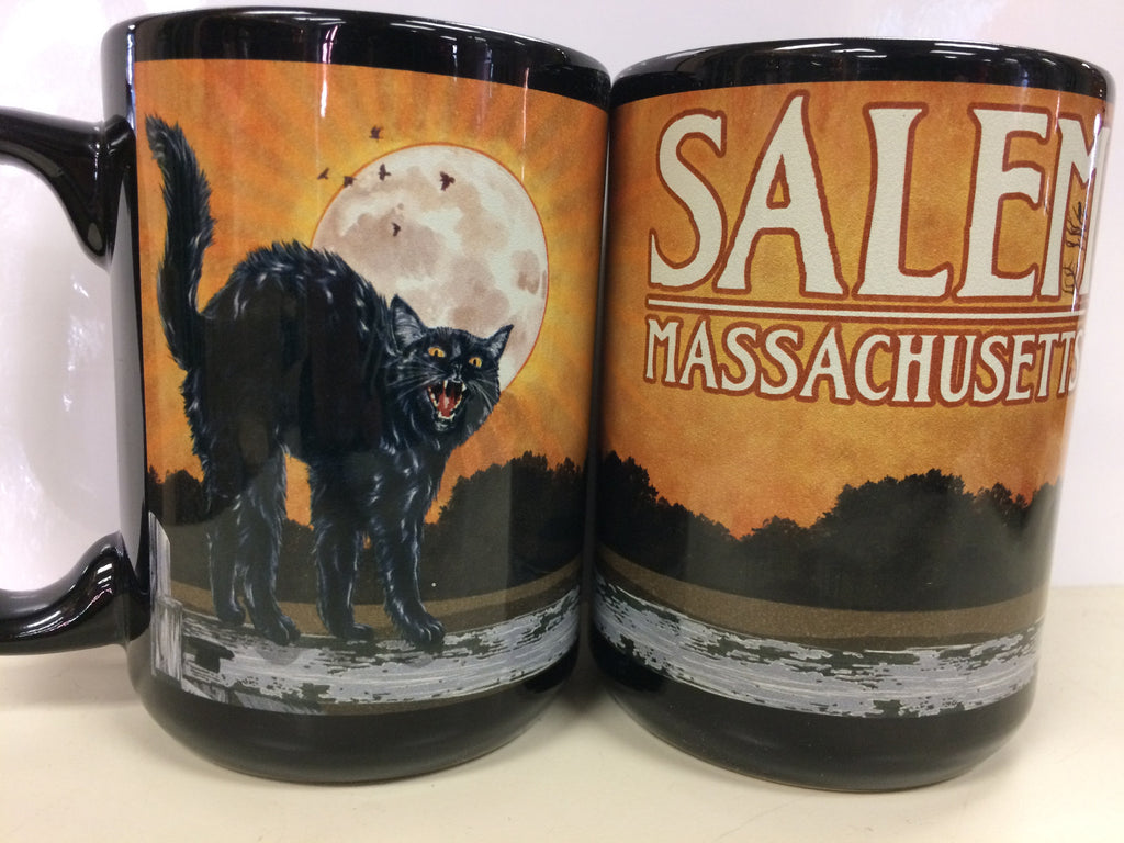 Salem Black Cat & Moon Mug
