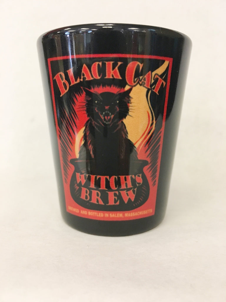 Shot Glass Black Cat/Witch's Brew