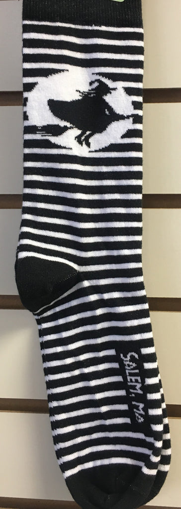Striped Salem Witch Socks