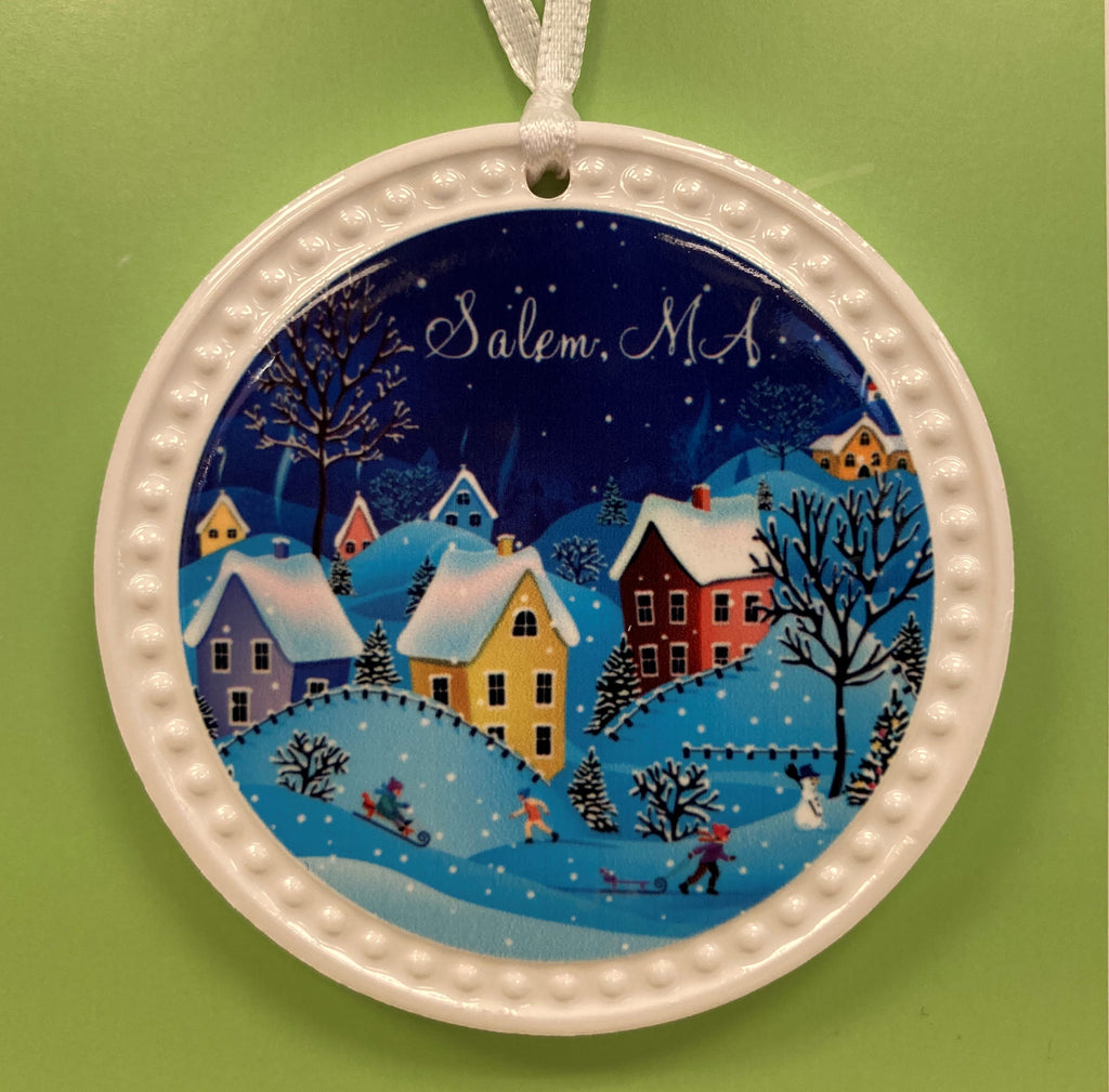 Winter village ornament