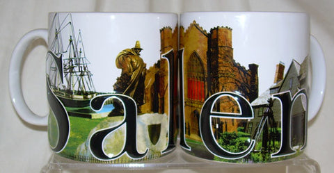 Salem Landmarks collage Mug